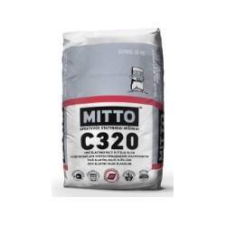 Ypač elastingi balti plytelių klijai MITTO C320 (25 kg)