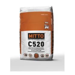 Klijai silikatiniams blokams MITTO C520 (25 kg)  YPATINGAI STIPRŪS,- 20M