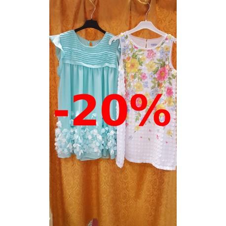 Gegužės 21 - birželio 3 d. vaikiškoms suknelėms yra taikoma 20% nuolaida