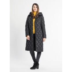 """Sušilkite su ,,Getex"""" firmos paltu. Patogumas, lengva priežiūra, puošnus dygsniuotas siuvinėjimas."""