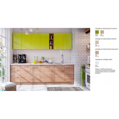 Virtuvės komplektas Lena Green Gloss
